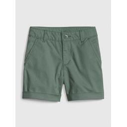 Kids Midi Shorts in Twill