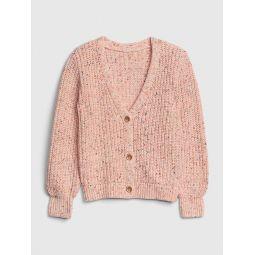 Kids Texture-Knit Cardi Sweater
