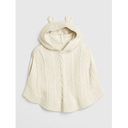 Toddler Cable-Knit Poncho