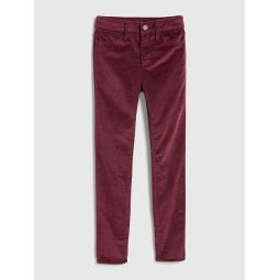 Kids High Rise Cord Jeggings
