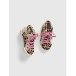 Toddler Leopard Hi-Top Sneakers