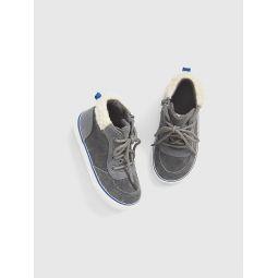 Toddler Cord Sherpa Hi-Top Sneakers