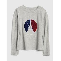 Kids Flippy Sequin Graphic T-Shirt