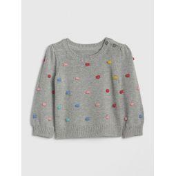 Baby Popcorn-Knit Sweater