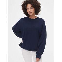 Vintage Soft Crewneck Sweatshirt with Raw Hem