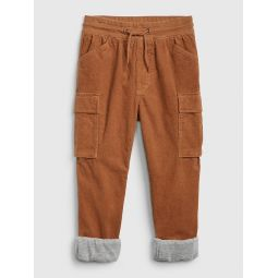 Kids Lined Cord Joggers