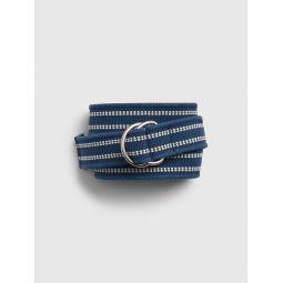 Webbed Leather Belt