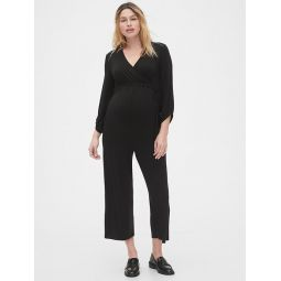 Maternity Wide-Leg Jumpsuit