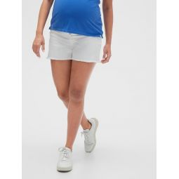 Maternity Inset Panel Denim Shorts