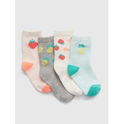 Toddler Fruit-Print Crew Socks (4-Pack)