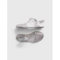 Kids Glitter Jelly Sandals
