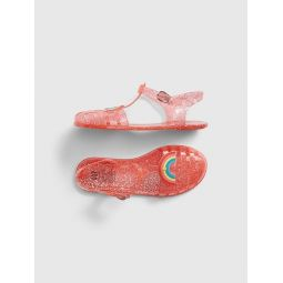 Kids Rainbow Jelly Sandals