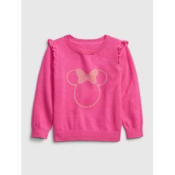 babyGap &#124 Disney Minnie Mouse Crewneck Ruffle Sweater