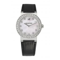 Womens Citra Sphere Crystal Croc Embossed Leather Watch. 32mm
