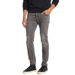 Sleekner Distressed Knee Slim Jeans