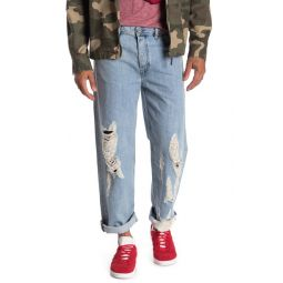 Dagh Distressed Regular Straight Leg Jeans