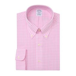 Gingham Print Long Sleeve Regent Fit Shirt