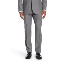 Light Grey Plaid Regent Fit Suit Separate Trousers