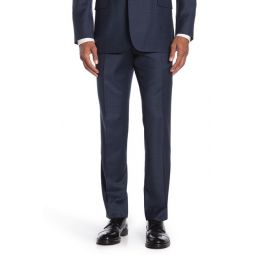 Navy Check Regent Fit Suit Separate Trousers