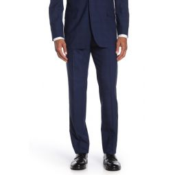 Dark Blue Plaid Regent Fit Suit Separate Trousers