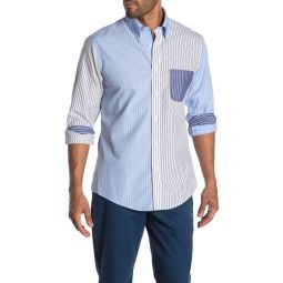 Non-Iron Fun Stripe Print Regent Fit Shirt