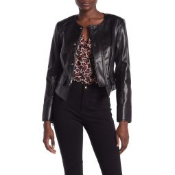 Verena High/Low Faux Leather Jacket
