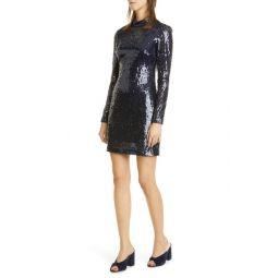 Liza Sequin Long Sleeve Mini Dress