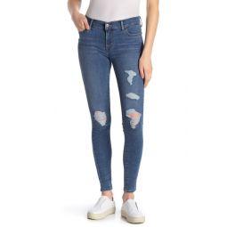 710 Super Skinny Distressed Jeans
