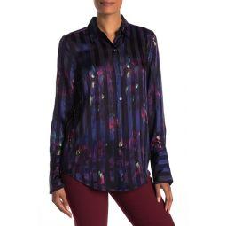Eleonore Silk Blend Long Sleeve Shirt