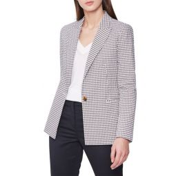 Carley Houndstooth Check Stretch Cotton Jacket