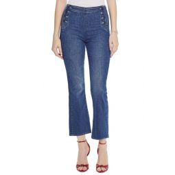 The Sailor Tripper High Waist Crop Bootcut Jeans (Three Little Ships)