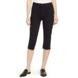 Rascal Knicker High Waist Fray Hem Capri Skinny Jeans (Not Guilty)