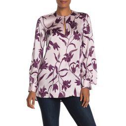 Delainey Floral Silk Blouse