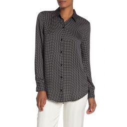 Essential Checked Satin Shirt