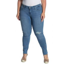 311 Shaping Stretch Embroidered Skinny Jeans (Plus Size)