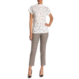 Joanne Check Print Slim Fit Trousers