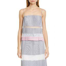Kalea Stripe & Pleat Shirt