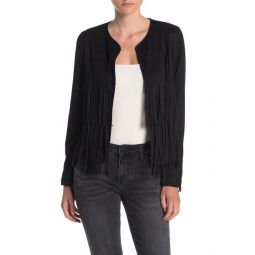 The Welt Double Fringe Faux Suede Jacket
