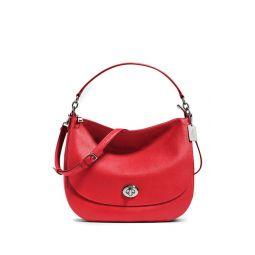 Turnlock Leather Hobo Bag