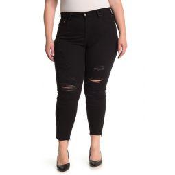 Wedgie Distressed Skinny Jeans (Plus Size)