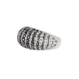 Two-Tone Crystal Pave Ring - Size 7