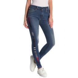 721 Striped Skinny Jeans