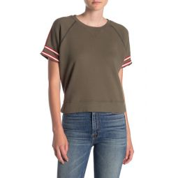 Sporty Raw Short Sleeve Top
