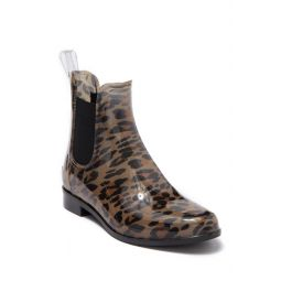 Acimovic Waterproof Leopard Print Rain Boot