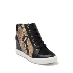 Aderadda Leather Wedge Sneaker