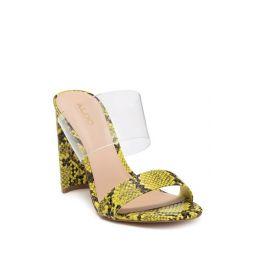 Alcafozes Snake-Embossed Sandal