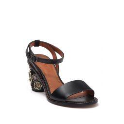 Tea Rose Embellished Block Heel Sandal