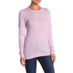Fine Gauge Cashmere Crew Neck Long Sleeve T-Shirt