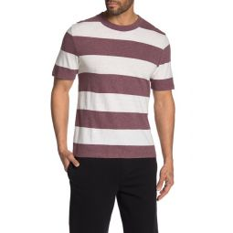 Heather Stripe Knit T-Shirt