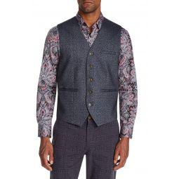 Leopard Print Stretch Trim Fit Knit Vest